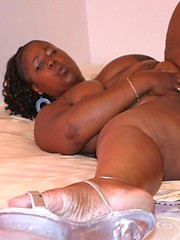 Round assed chubby ebony girl working it then riding dick