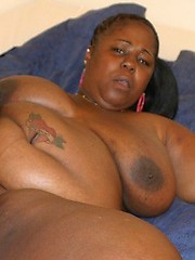 Naturally well endowded fat ebony babe getting fucked hard