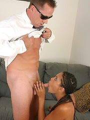 Sunshine shows the CEOs that she has great oral skills!