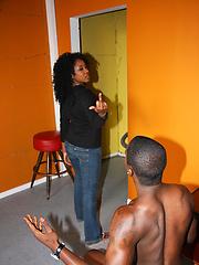 Ebony babe gets gangbanged by rednecks and bukkake