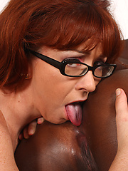 Black doll dominates redhead mommy