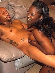 Ebony BBW get facial cumshot from lucky fucker