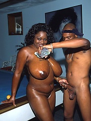 Big oiled ebony woman fucking