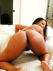 Big black tits at work