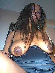 Cock-hungry black slut amateur shoots
