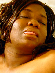 Black woman Shanel grabs her pussy by toy