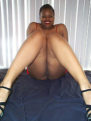 Amateur ebony woman Thick Red