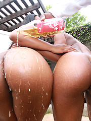 Cheap sluts with big phat asses pleasuring a loaded cock