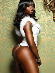 Wonderful black model star Buffie
