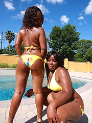 Afro sluts with massive juicy butts sharing a loaded cock