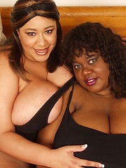 Honey Juggs and Melonie Rose - huge boobed black mamas