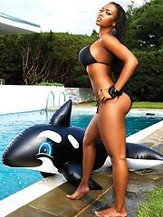 Esther Baxter sexy Black Men Magazine Model