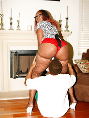 Black Ms. Cleo gets her mature booty fucked