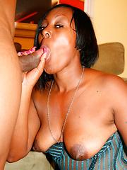 Hot ebony MILF getting fucked by horny guy