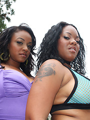 Double negro fucks two hot black booty bitches