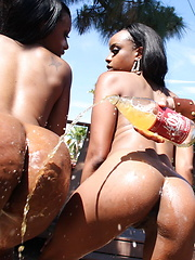 Lucky dude gets to fuck two perfect bubble butts