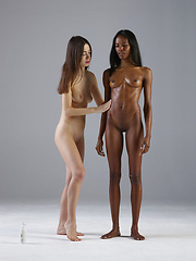 Two human females