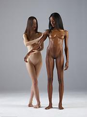 Two human females