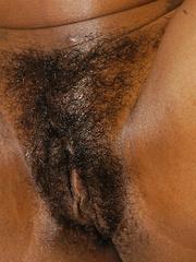 Black bush babe gets boned!